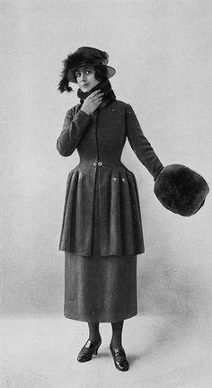 Les Modes (Paris) 1918 Costume d'apres-midi par Peron. Inspiration for Madeleine's winter outfit.