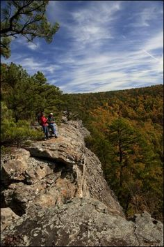 Scenic view from Sam's Throne in the Ozark mountains in Arkansas.