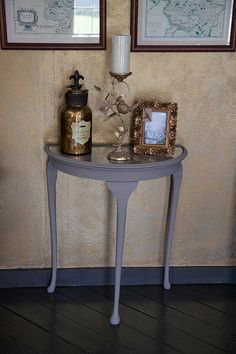 Queen Anne Half Moon Table   My Site