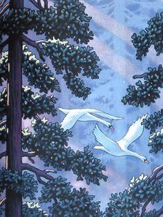 "Chris Van Allsburg for Mark Helprin's ""Swan Lake"". A match made in heaven."