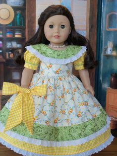 American Girl 3 Piece Mid 1800s Gown / Clothes for by Farmcookies
