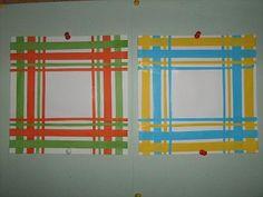Návrh na kapesník (ručník) - koláž z barevného papíru