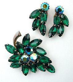 Vintage JULIANA Brooch and Earrings