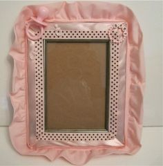 Cute handmade picture frame for a new baby girl. MAKES FOR A GR8 GIFT!!!
