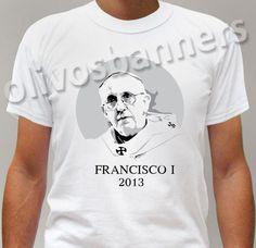 $19.90  T-Shirt S M L XL PAPA FRANCESCO I Francisco Jorge Maria Bergoglio 2013 chiesa