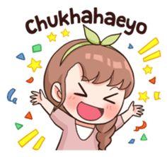 New memes love language Ideas Chibi Kawaii, Loli Kawaii, Cute Chibi, Anime Korea, Korean Anime, Korean Phrases, Korean Words, Korean Expressions, Korean Stickers