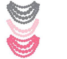 Necklace Onesie Iron-ons: Free Applique Designs - Mother's Niche
