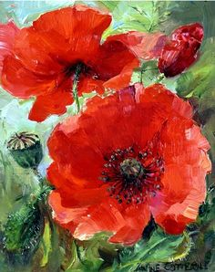 Poppies Mill House Fine Art – Publishers of Anne Cotterill Flower Art Acrylic Flowers, Oil Painting Flowers, Acrylic Art, Poppy Flower Painting, Watercolor Poppies, Red Poppies, Watercolor Paintings, Art Paintings, Poppies Art