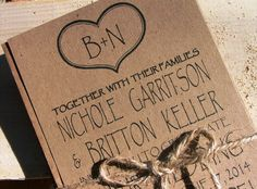 Initials and  Heart wedding invitation set : a deposit to begin. $100.00, via Etsy.