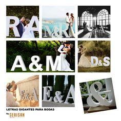 letras gigantes de bodas, letras bodas, iniciales para bodas, letras bodas…
