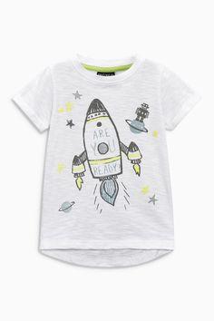 Kids Size 0 ~ 8 Top T-shirt Smile Print Girls Black
