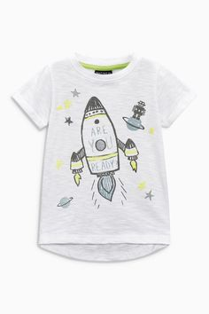 Buy White Short Sleeve Rocket T-Shirt (3mths-6yrs) from the Next UK online shop