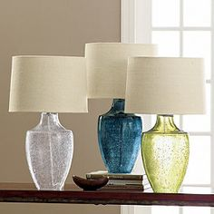 Optique Table Lamp & Shade (bubble glass lamps, $200)