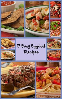 17 Easy Eggplant Recipes - Pick up a couple eggplants at the local farmer's market, and check out the tasty recipes you can make with 'em!