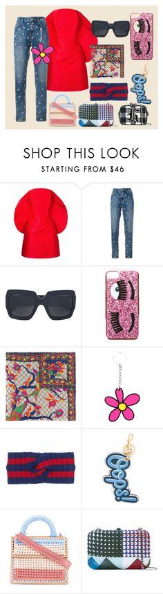 """cocktail dress"" by ramakumari ❤ liked on Polyvore featuring Isabel Sanchis, Zoe Karssen, Gucci, Chiara Ferragni, Christopher Kane, Anya Hindmarch, 7II, Faliero Sarti, fashionset and summerglow"