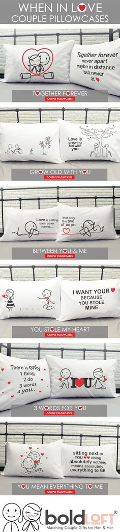 "New Collection- ""When in Love"" from BoldLoft. Their love would be your precious thing ever in the world, and no words can describe how much you care and love your beloved ones. Why not commit your passion of love with your partner by sharing these love-filled his and hers couples pillowcases."