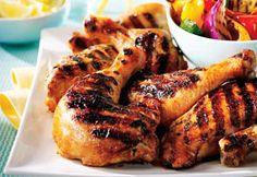 Poulet barbecue à l'orange, au gingembre et au miel