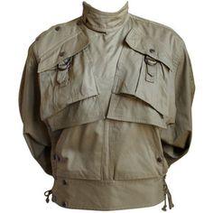 Kansai Yamamoto - very rare KANSAI YAMAMOTO khaki jacket with snaps