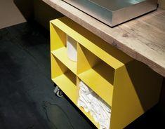 #storage #bathroom #bathrooms #bathroomstorage #decor #yello #sunshineyello #store #wheels #decoration #homedecor  Wheel cabinet with 4 openings - 23-3/4 wide X 21-1/2 - 23-3/4 high