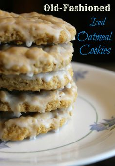 Old-Fashioned Iced Oatmeal Cookies (Step-by-Step Pictures and Recipes!) On Prairie Gal Cookin'- sub applesauce for eggs and make allergy friendly