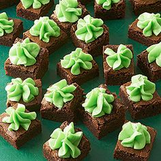 Creme de Menthe Brownie Bites From Better Homes and Gardens, ideas and improvement projects for your home and garden plus recipes and entertaining ideas.