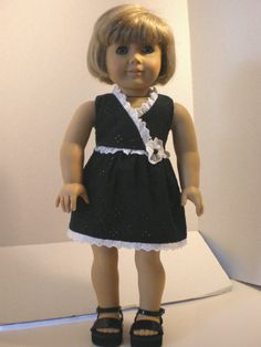 American Girl Doll Clothes Black  Eyelet  Wrap  by fashioned4you, $18.00