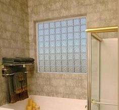 Glass Block Bathroom Ideas glass block window in shower tile wall and plants. vent
