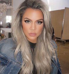 Khloe hair, khloe kardashian hair ombre, kardashian hairstyles, celebrity h Khloe Kardashian Hair, Khloe Hair, Kardashian Hairstyles, Kardashian Beauty, Kardashian Jenner, Celebrity Hairstyles, Brown Blonde Hair, Ashy Blonde, Blonde Hair For Dark Eyebrows