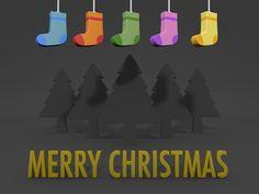 メリークリスマス/背景/黒 / クリップアート/画像/アイコン