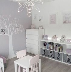 Girly room - Simple White Kids Bedroom with Craft Table and Storage kidsspace kidsroom big Small Room Bedroom, Baby Bedroom, Baby Room Decor, White Bedroom, Girls Bedroom, Bedroom Decor, Bedroom Lighting, Bedroom Lamps, Small Rooms