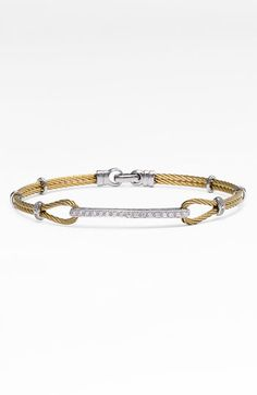 Charriol 'Classique' Diamond ID Bracelet available at Nordstrom