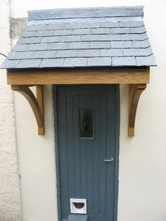 Quality Woodworks » Oak door canopy and Front door