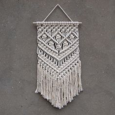 "132 Likes, 1 Comments - PapuShoi (@papushoi_p) on Instagram: ""New wall hanging :) Available in my shop (link in bio) . . . . #papushoi #macrame #homedecor…"""