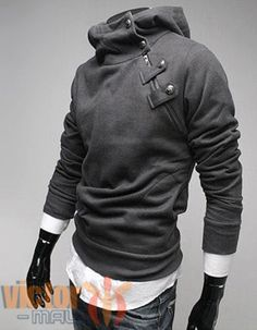 Hooded-Sweater-Mens-Biker-Pullover-Sport-Jumper-Outwear-Casual-Sweatshirt-Tops