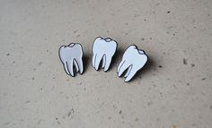 Tooth Enamel Pin Teeth Enamel Pin Molar Enamel Pin By Kawaiikala