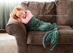 Looking for your next project? You're going to love Mermaid Tail Blanket by designer melodysmakings.
