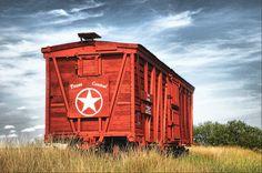 Texas Central Railroad Car: Albany, Texas in Shackleford County