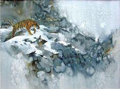 Morten E. Solberg. Животные акварелью. Тигр