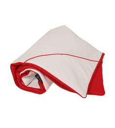 RED HOOD BLANKET A must have accessory, crafted in a red  white cotton blend and equipped with PramCouture's signature Red Hood design #pramcouture #pram #blanket