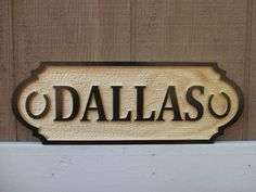 Horse stall name plate custom wood carved with horsehoes. Unique equestrian ranch door name plate. Stable and barn decor.