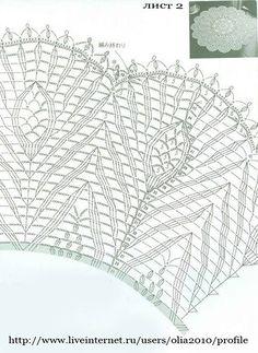 View album on Yandex. Crochet Collar Pattern, Free Crochet Doily Patterns, Crochet Doily Diagram, Crochet Mandala, Lace Doilies, Crochet Doilies, Fillet Crochet, Crochet Magazine, Crochet Tablecloth