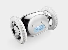 20 awesome alarm clocks! This one rolls off the nightstand, and goes off until you catch it. I might wake up with this one :-)