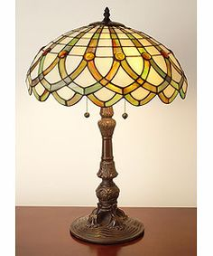 Shop for Tiffany-style Ribbon Table Lamp. Get free delivery On EVERYTHING* Overstock - Your Online Lamps & Lamp Shades Store! Get in rewards with Club O! Tiffany Lamp Shade, Stained Glass Table Lamps, Tiffany Art, Room Lamp, Unique Lamps, Stained Glass Patterns, Cool Lighting, Decoration, Glass Art