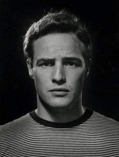 Marlon Brando in a 1950 photo by Philippe Halsmann -       			      			We Had Faces Then