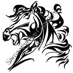 Tribal Horse 4 by ~Alektorotelumphobia on deviantART