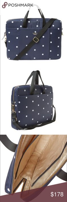 kate spade ♠️ laptop   bag Beautiful Polk-a-dot bag for your laptop computer. Carry it in style. NWOT, never been used. See last picture for details. kate spade Bags Laptop Bags