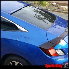 StanceNride #818R Rear Roof Spoiler Window Wing (Honda Civic Coupe 2dr 2016-on)  #SPKDepot