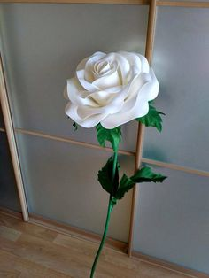 Attaching a large paper flower to a stem crepe paper flowers a giant flower with a great flexible stem you can make the bloom lay mightylinksfo