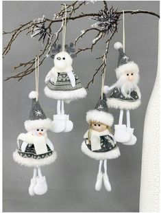 white and grey palette hanging Christmas decorations, sewing crafty Christmas ideas - SalvabraniLudmila fantová s 008 media content and analytics – ArtofitTomte cal van cutedutch made by mie salvabrani salvabrani - ArtofitImage gallery – Page 86 Burlap Christmas Decorations, Christmas Ornament Crafts, Christmas Sewing, Felt Christmas, Felt Ornaments, Christmas Angels, Christmas Projects, Handmade Christmas, Holiday Crafts