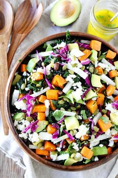 Sweet Potato and Black Bean Kale Salad | Two Peas & Their Pod | Bloglovin'